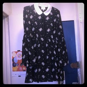 Celestial, floral print dress